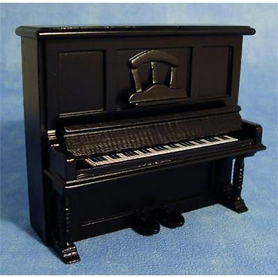 Black Upright Piano for 1:12 Scale Dolls House