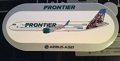 New Airbus Sticker Frontier  AIRBUS A321, Otto The Owl