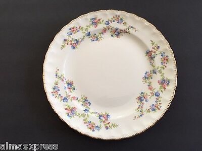 "Pope Gosser China Blue Belle 3095 Pink & Blue Floral - 9-1/8"" LUNCHEON PLATE"