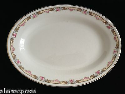 """KT&K KTK Knowles Taylor Ivory SV China Roses Yellow - 11"""" OVAL SERVING PLATTER"""