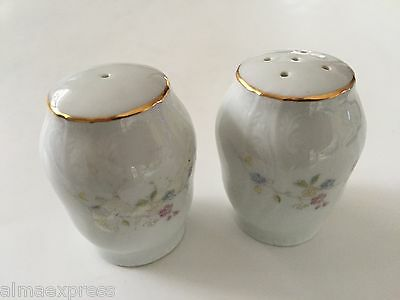 Boscov's China Czech Republic PETITE FLEUR - SALT & PEPPER SHAKER SET
