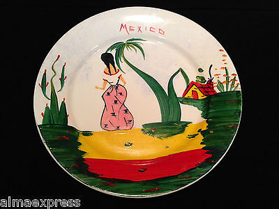 Vintage LOFISA MEXICO Hand Painted Souvenir Advertising Plate