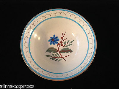 """Stangl Pottery Hand Painted BLUE DAISY - 5-1/2"""" x 1"""" Deep BERRY / FRUIT BOWL"""