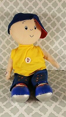 """12"""" Talking Caillou Doll Plush Speaks English & French Pbs Kids Learning 2005"""