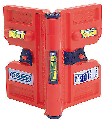 Draper Magnetic Post Level With Straps For Wooden Posts - Fencing Spirit Level