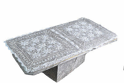 "Home Vintage Crochet Holiday Tablemat Table Runner 30""x60"" White Tablecloth"