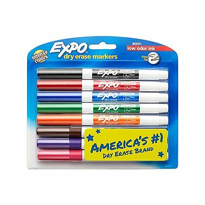1 Pack - EXPO Dry Erase Markers - Assorted Colors -  FINE POINT - 8 Colors