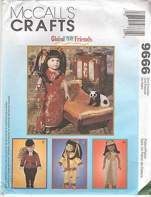 """*McCall's 9666 Doll Clothes Pattern 14"""" & 18"""" Riding, Chinese, Egyptian Outfits"""