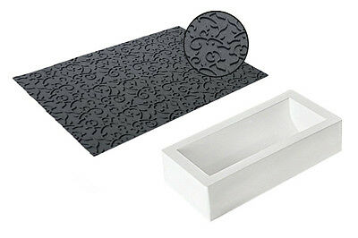 Arabesque Kit Silicone Mould and Texture Mat by Silikomart