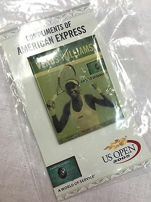 2005 US Open American Express Venus Williams Pin New Sealed Collectible