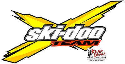 "(Skid-1) 12"" Skidoo Ski-Doo Snowmobile Rev X Decal Sticker"