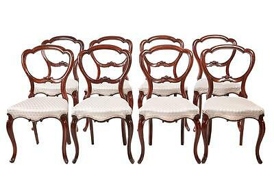 Set Of 8 19Th Century Victorian Rosewood Dining Chairs