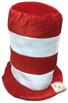 "Dr. Seuss Cat In The Hat Costume  By Shalom Toys ""One Size Fits All""  ""NEW"""