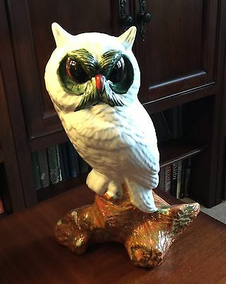 VIntage Ceramic Owl Large 14""