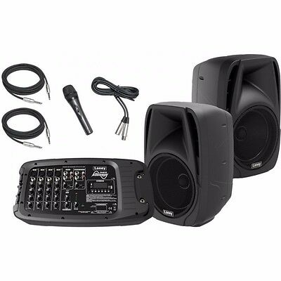 LANEY AH210 400W 6 Channel All-in-one PA System with Bluetooth, Microphone, Lead