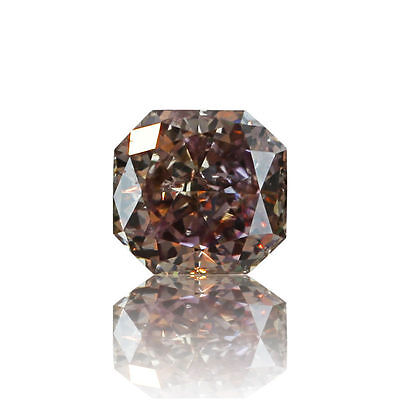 Pink Natural Diamond 0 .10 Ct Fancy Loose Radiant Cut Deep Brownish Color SI2