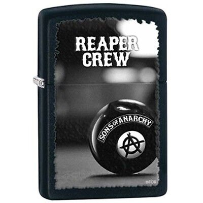 Zippo Sons of Anarchy Reaper Crew Black Matte Pocket Lighter