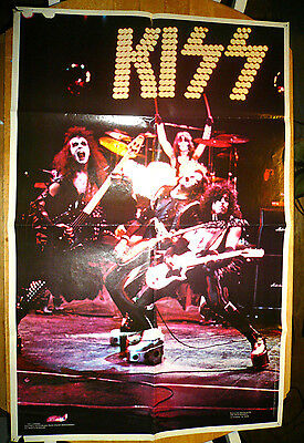 KISS Poster Alive  Stage Shot Rock Steady 1975 Boutwell