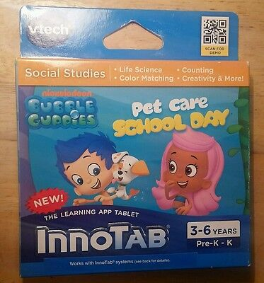 Vtech Innotab Nickelodeon Bubble Guppies Pet Care School Day