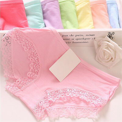 New Women Lace Soft Underpants Underwear Knickers Cotton Panties Free Size Brief