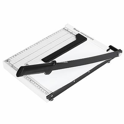Adjustable A4 Paper Guillotine Cutter Trimmer Desktop Stack12 Sheets FV88