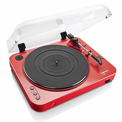 Lenco L-85 2 Rated Speed Turntable with USB Direct Recording in Red