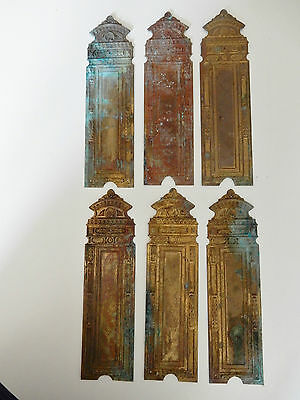 antique BRASS DOOR PLATES TO RESTORE  As one lot  ! see images  C