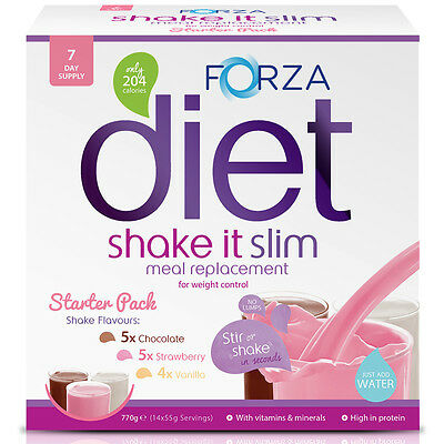 FORZA Shake It Slim Meal Replacement Shake Starter Pack Meal Replacement Powder