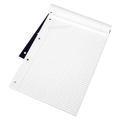 3 x 160 Page A4 Refill Pads Feint Ruled 4 Hole Punched Paper Notebooks Notepads