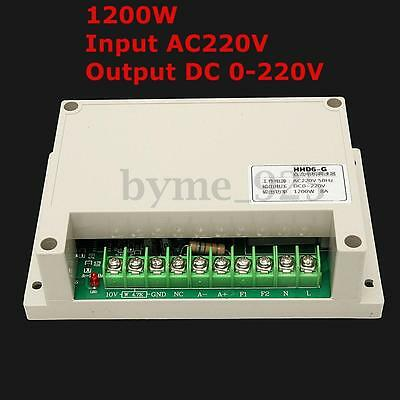 Input AC 220V Output Voltage DC 0-220V Motor Speed Controller Max Power 1200W
