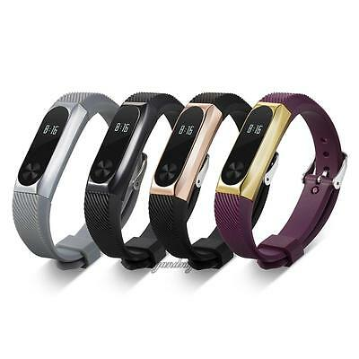 For Xiaomi Mi Band 2 Smart Watch Replacement Wrist Band Straps with Metal Frame