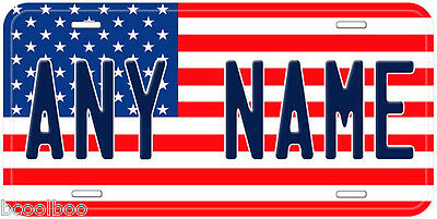 Personalized USA Flag Any Name Novelty Car License Plate