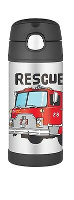 Thermos FUNtainer Stainless Steel Vacuum Insulated Drink Bottle (Fire Truck)