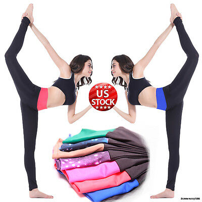 Womens YOGA Workout Gym Sports Pants Leggings Lady Fitness Stretch Trousers S260
