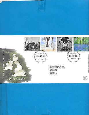 Great Britain  FDC  # 1914-17 ( Address)