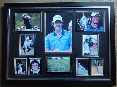 100% Hand Signed Framed Rory McIlroy Golfing Autographed Photo display CHRISTMAS