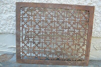 Antique Victorian Cast Iron Fancy Cold Heat Air Grate Circa Return Register