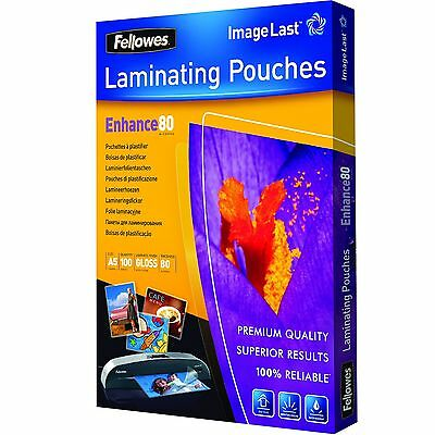 Fellowes Enhance A5 80 Micron Laminating Pouches (Pack of 100) 80 Microns