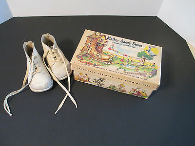Vintage Mother Goose Baby Shoes 1950's