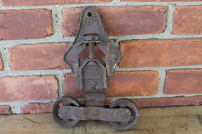 Antique Cast Iron Barn Door Roller Hardware - 2 Wheels hanger track roller 1 pc