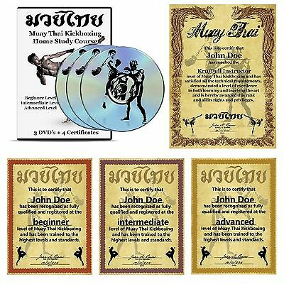 Muay Thai Kickboxing Home Study Course + Certifcate's of Rank