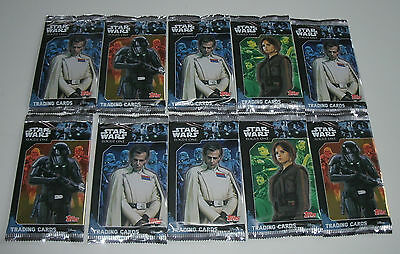 Topps Star Wars Rogue One - 10 Booster / 50 Karten NEU & OVP