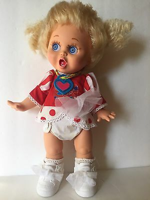 """Vtg Baby Face Doll So Surprised Suzie Original Clothes Shoes Galoob Jointed 13"""""""