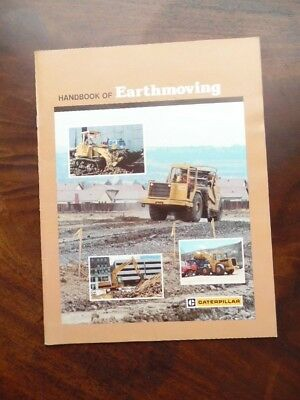 1985 Caterpillar Tractor Company Handbook of Earthmoving Vintage Original VG+