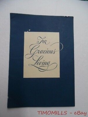 c.1950 Towle Sterling Silverware For Gracious Living Catalog Brochure Vintage