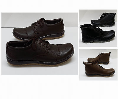 Shumaxx MENS Leather look CASUAL FORMAL dress Boots SHOES