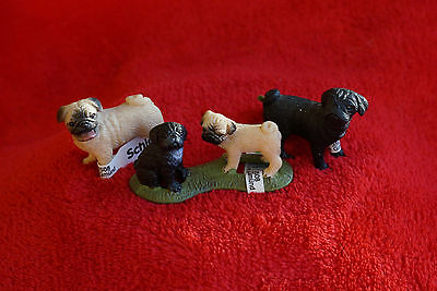 Schleich Pugs Family 16381/16382/16383