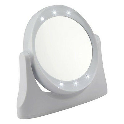 LED 10x Magnifying Makeup or Shaving Vanity Mirror - White
