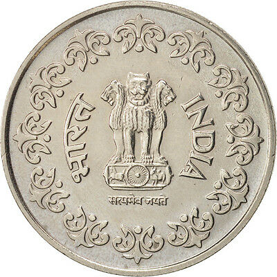 [#450335] INDIA-REPUBLIC, 50 Paise, 1985, AU(50-53), Copper-nickel, KM:65
