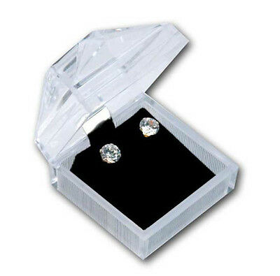 24 Pcs Crystal Clear Earring Box
